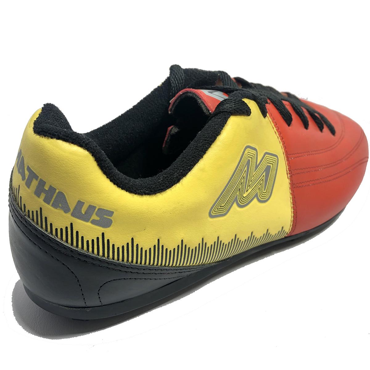 d9f2e89dc7 Chuteira Mathaus Viper Society Masculina Vermelho e Amarelo - Compre ...