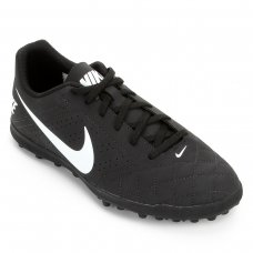 Chuteira Society Nike Beco 2 TF - Preto e Branco