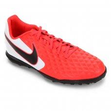 Chuteira Society Nike Tiempo Legend 8 Club - Vermelho e Preto