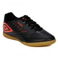 Chuteira Futsal Umbro Speed IV - Preto e Coral
