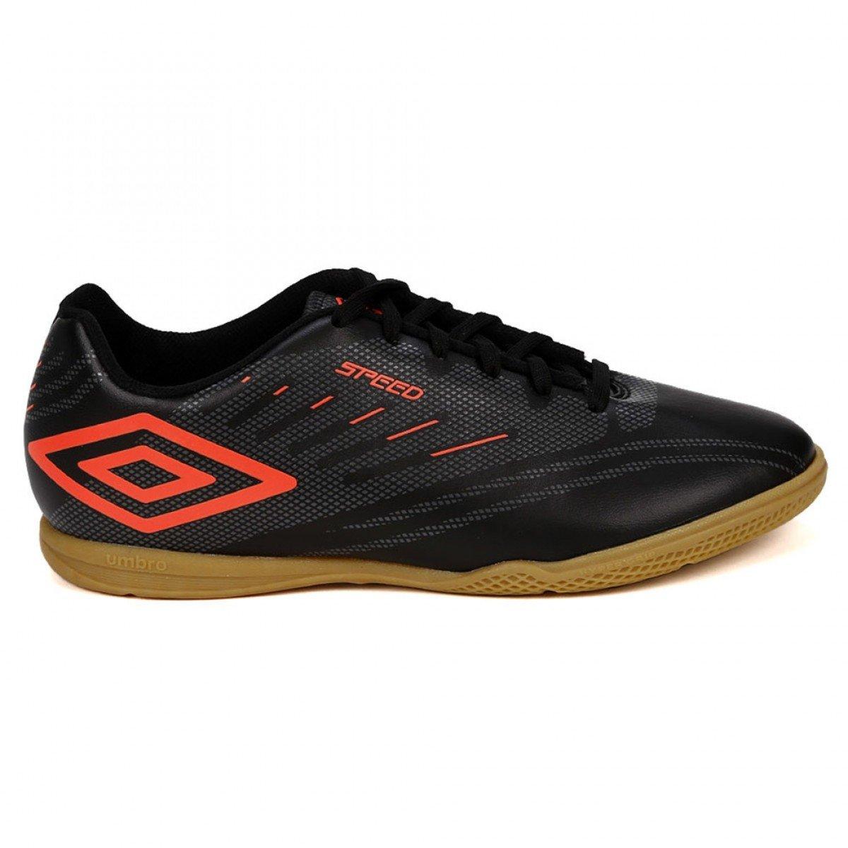 d04d7e85b8 Chuteira Futsal Umbro Speed IV Preto e Coral - Compre Agora