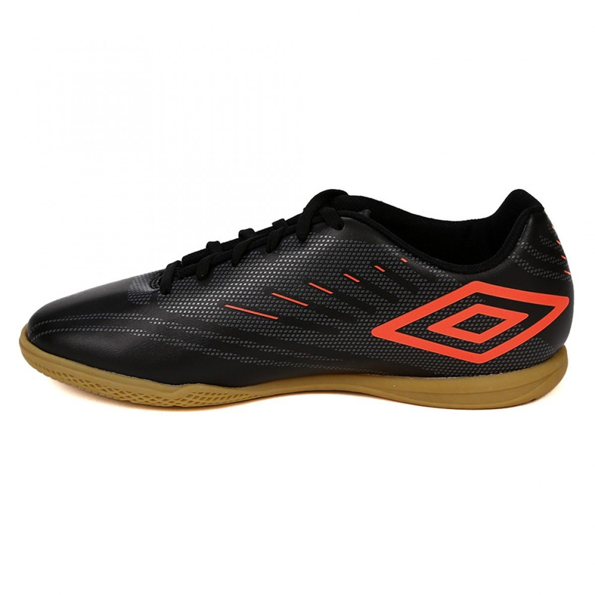 fa41a8de4e Chuteira Futsal Umbro Speed IV Preto e Coral - Compre Agora