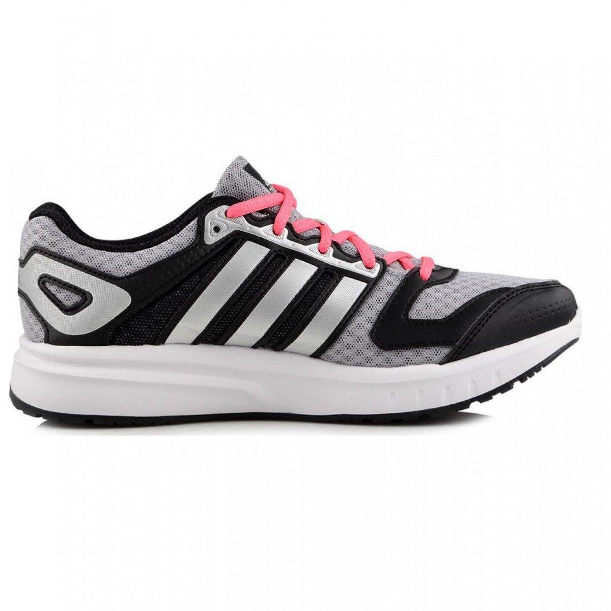 d3ef3e7b747 Tênis Adidas Galaxy Feminino - Prata e Rosa ...