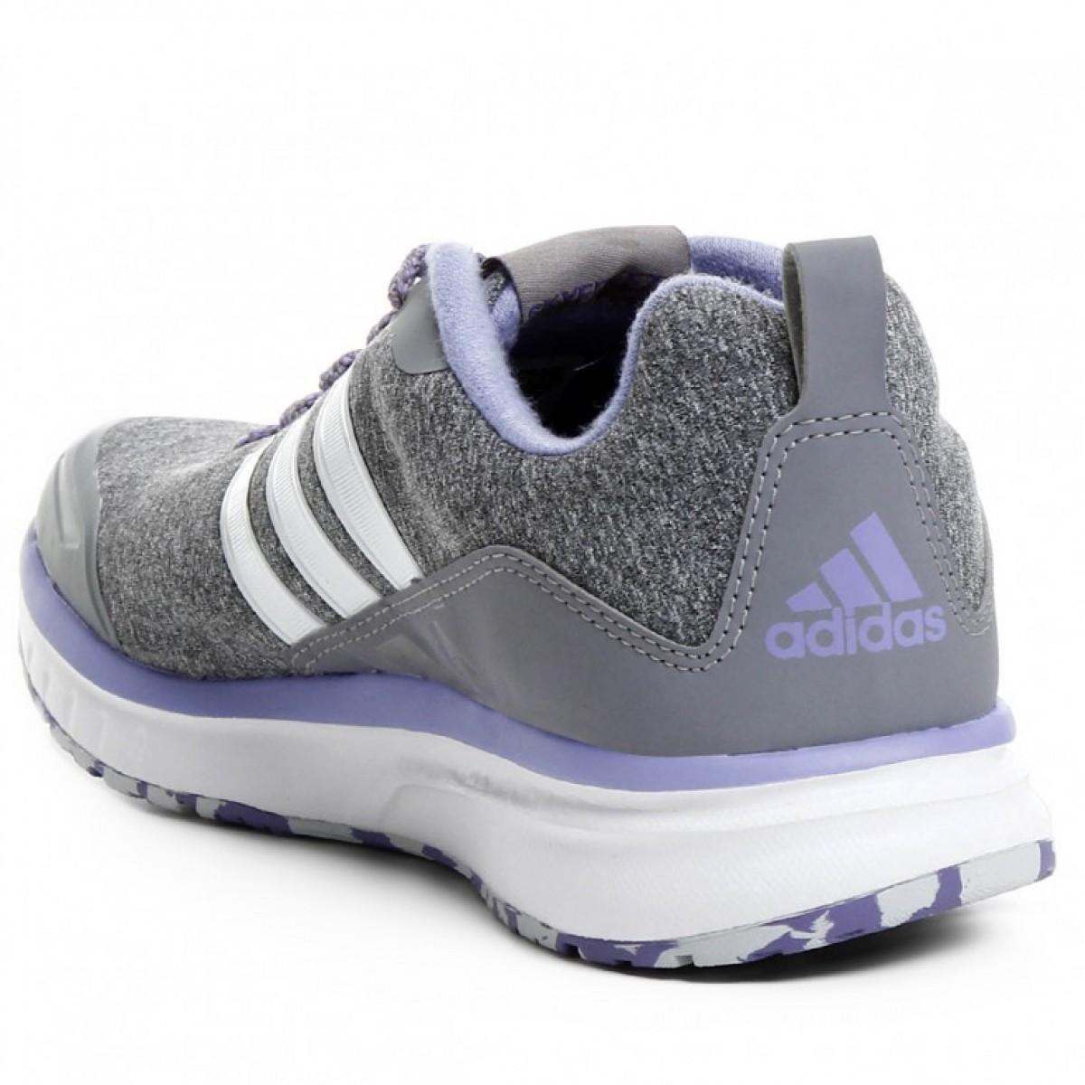 e28fbdc9d86 ... Tênis Adidas Skyfreeze Feminino - Cinza e Lilás ...