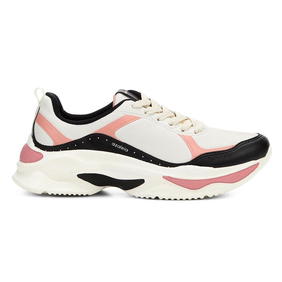 7983a5aaedc Tênis Azaleia Chunky Sneaker Feminino Preto e Rosa - Compre Agora ...
