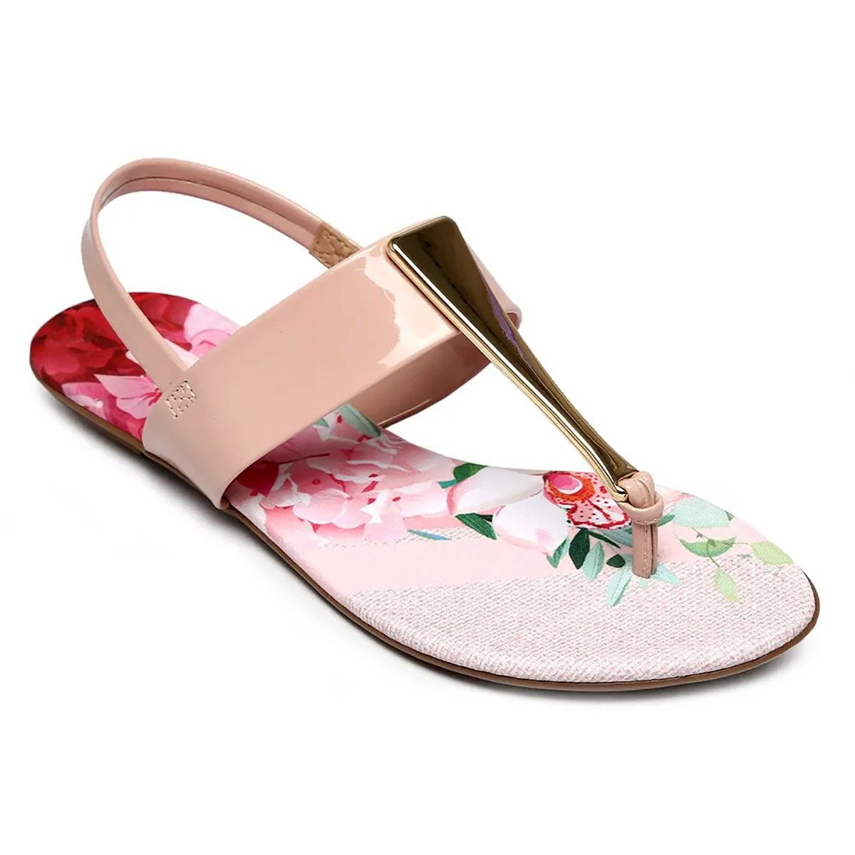 a175883b8 Rasteira Beira Rio Tecido Floral Metal Glamour Rosa - Compre Agora ...