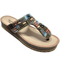 Chinelo Bottero Birken Tropical Feminino - Marrom