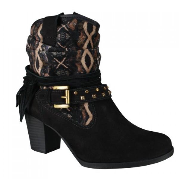 Bota Dakota Ankle Boot Feminina - Preto