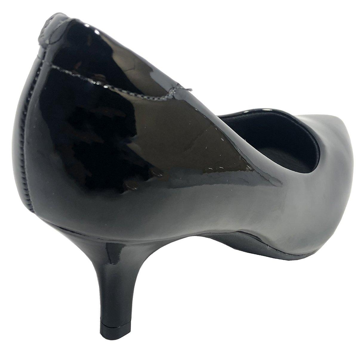 9cf4d62b7 Scarpin Modare Ultra Conforto Salto Baixo Verniz Preto - Compre ...