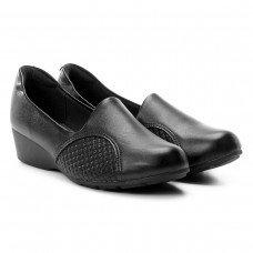 Sapato Scarpin Modare Salto Baixo Anabela Joanete - Preto