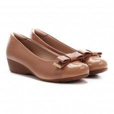 Sapato Anabela Modare Laço Ultra Conforto Feminino - Nude