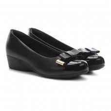 Sapato Anabela Modare Laço Ultra Conforto Feminino - Preto