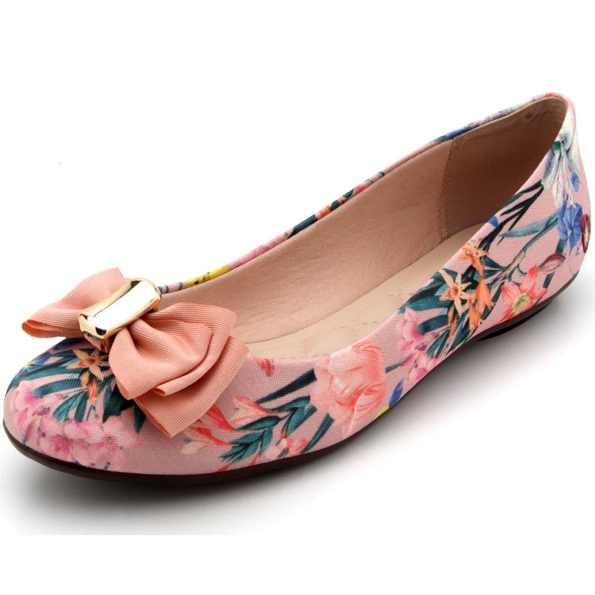 18ebedb08b Sapatilha Moleca Laço Floral Feminina Rosa - Compre Agora