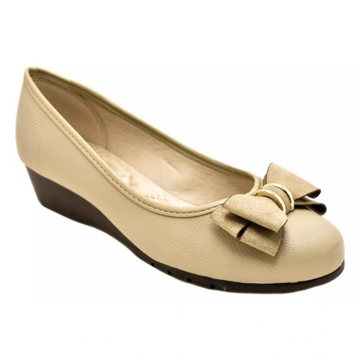 9c2866ef3d Sapato Feminino Moleca Anabela Baixo Napa - Compre Agora