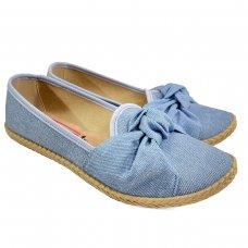 Alpargata Moleca Nó Jeans Feminina - Azul