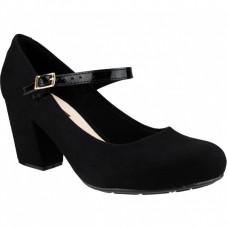 Sapato Boneca Moleca Camurça - Preto