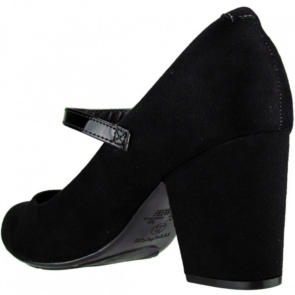 0527b1b608 Sapato Boneca Moleca Camurça Preto - Compre Agora