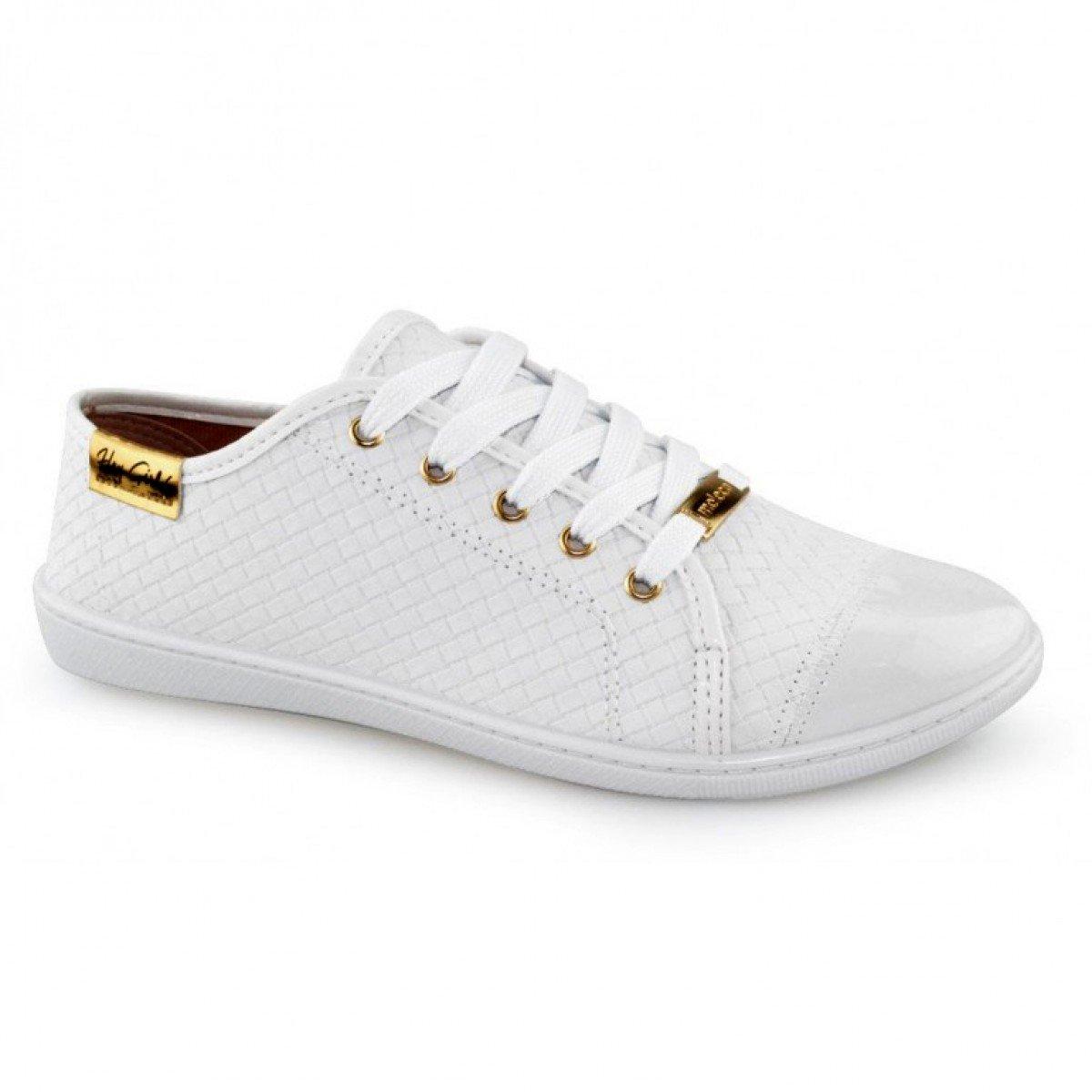 Tênis Feminino Moleca Tresse Casual Branco - Compre Agora  23e0d542d95c4