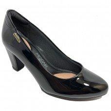 Sapato Modare Salto Médio Verniz - Preto