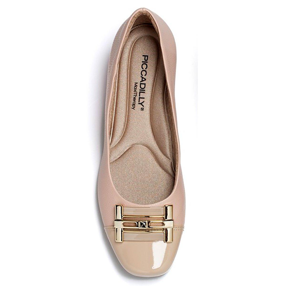 6e7620e228 Sapato Piccadilly Confort Bico Quadrado Bege - Compre Agora