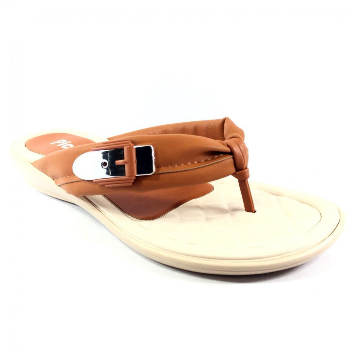 Chinelo Piccadilly Metal Feminino - Caramelo