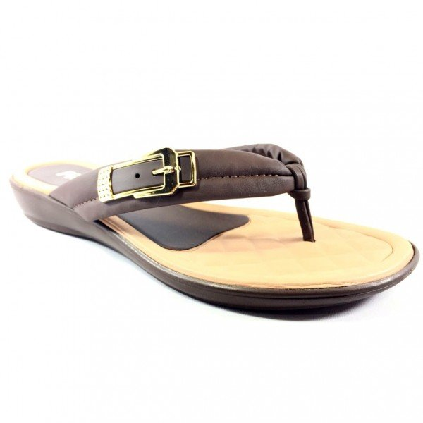Chinelo Rasteira Piccadilly Confortavel - Marrom