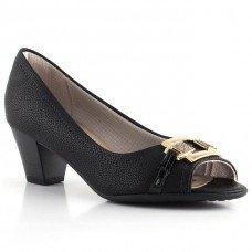 Peep Toe Piccadilly Confort Feminino - Preto