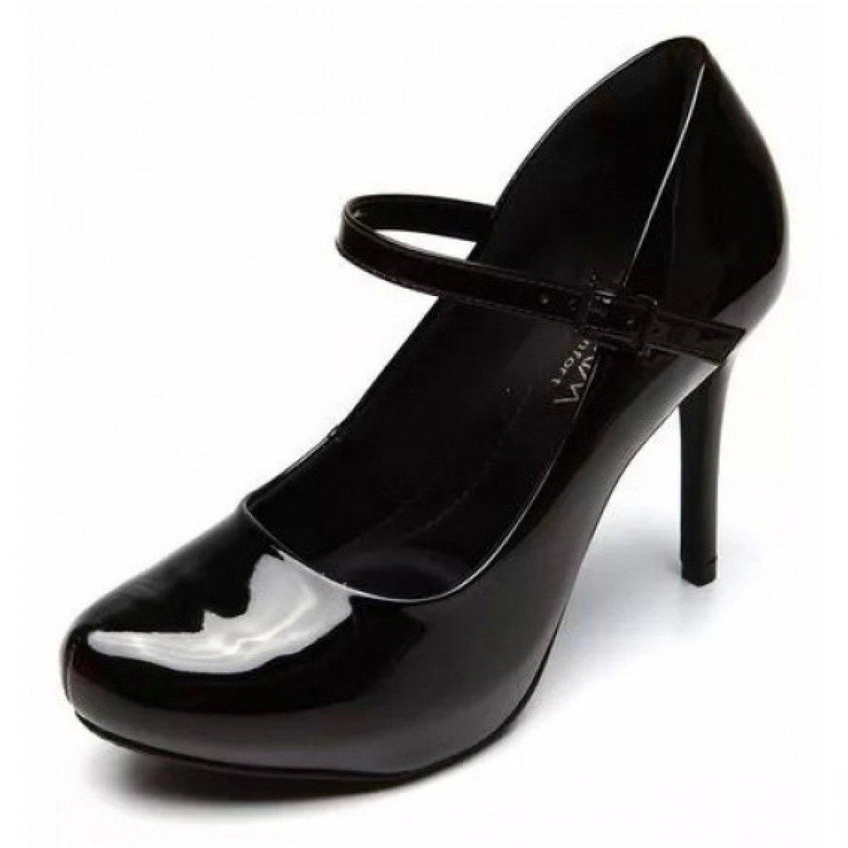 Sapato Ramarim Verniz Feminino - Preto