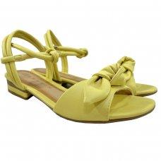 Sandália Rasteira Ramarim Laço Soleil - Amarelo
