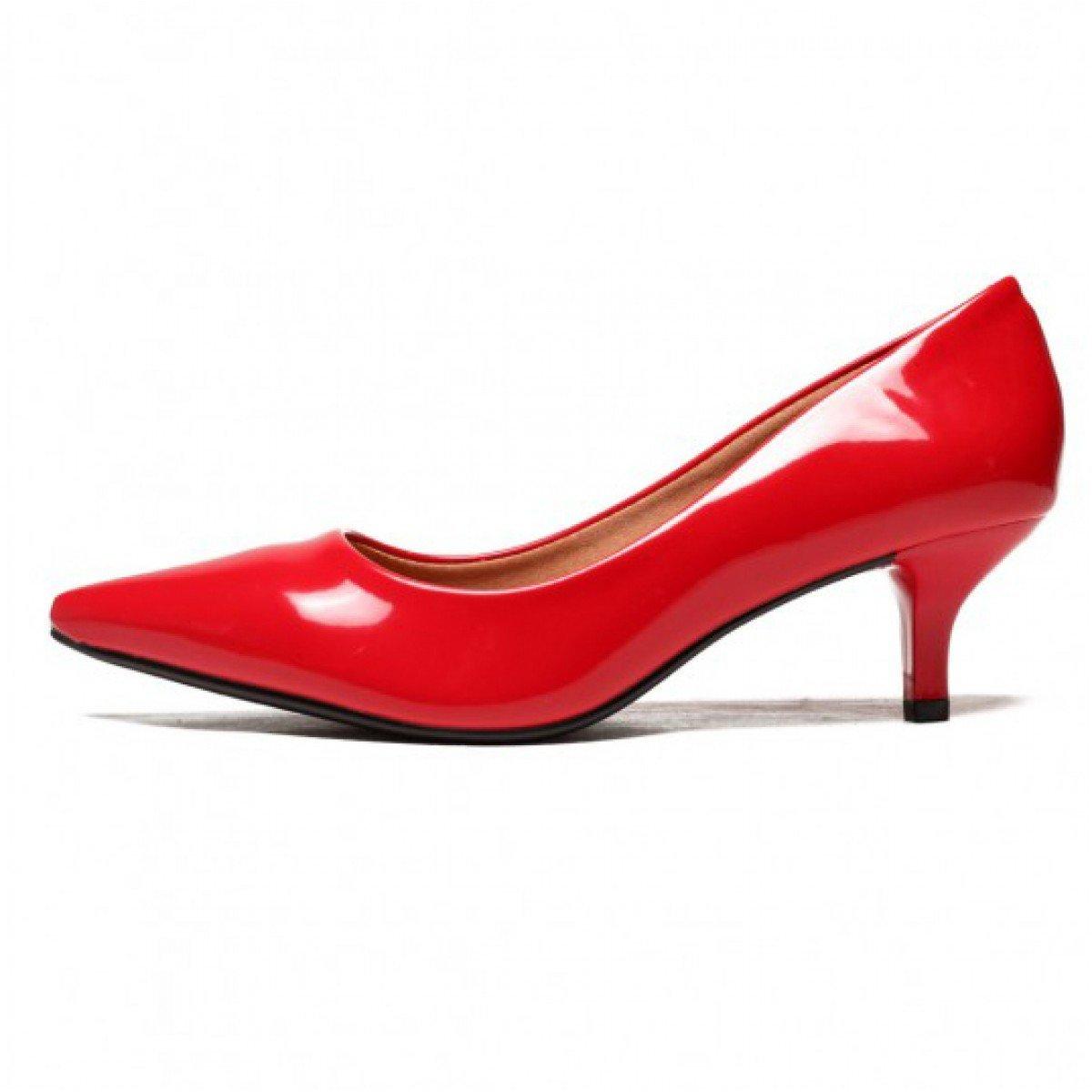 671fee8f4 Scarpin Feminino Vizzano Verniz Vermelho - Compre Agora