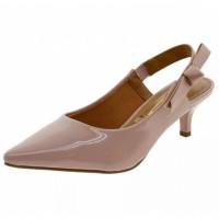 Sapato Vizzano Scarpin Chanel Verniz Feminino - Rosa