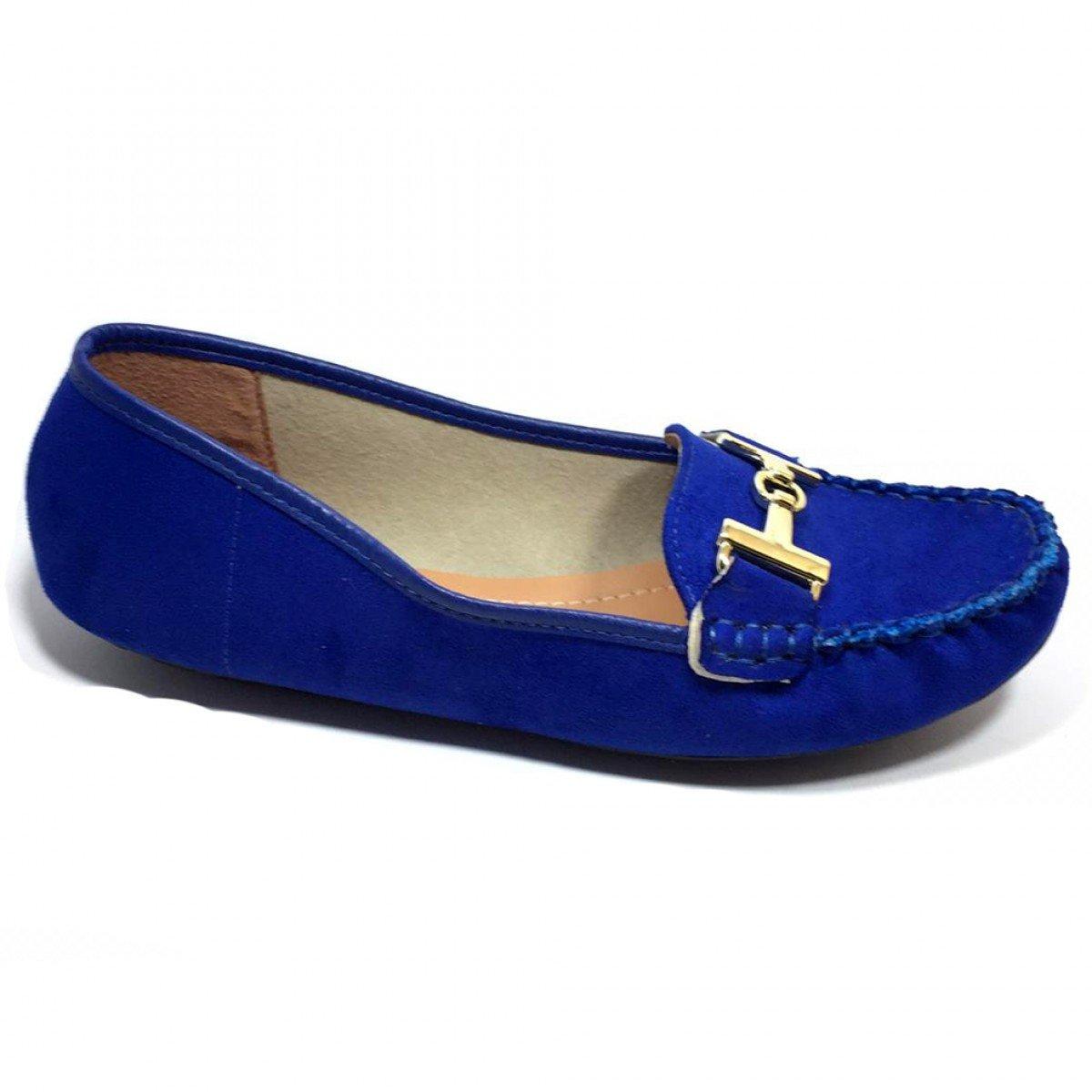 3e0da288b8 Mocassim Feminino Vizzano Camurça Flex Azul - Compre Agora