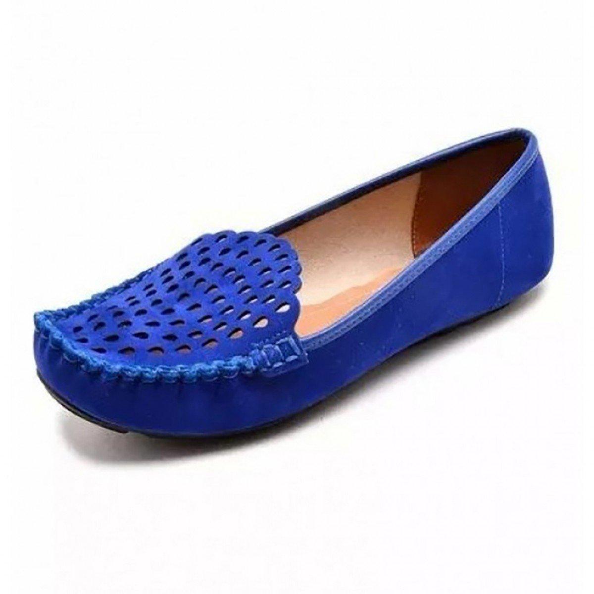 2a4db9f83b Mocassim Feminino Vizzano Nobuck Nice Glam Azul - Compre Agora ...
