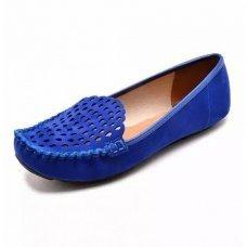 Mocassim Vizzano Nobuck Nice Glam Feminino - Azul