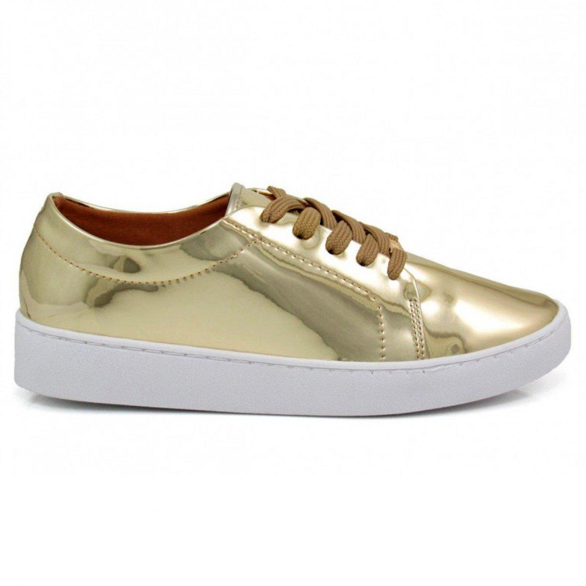 91630d6fcb3 Tênis Feminino Vizzano Metalizado Dourado - Compre Agora