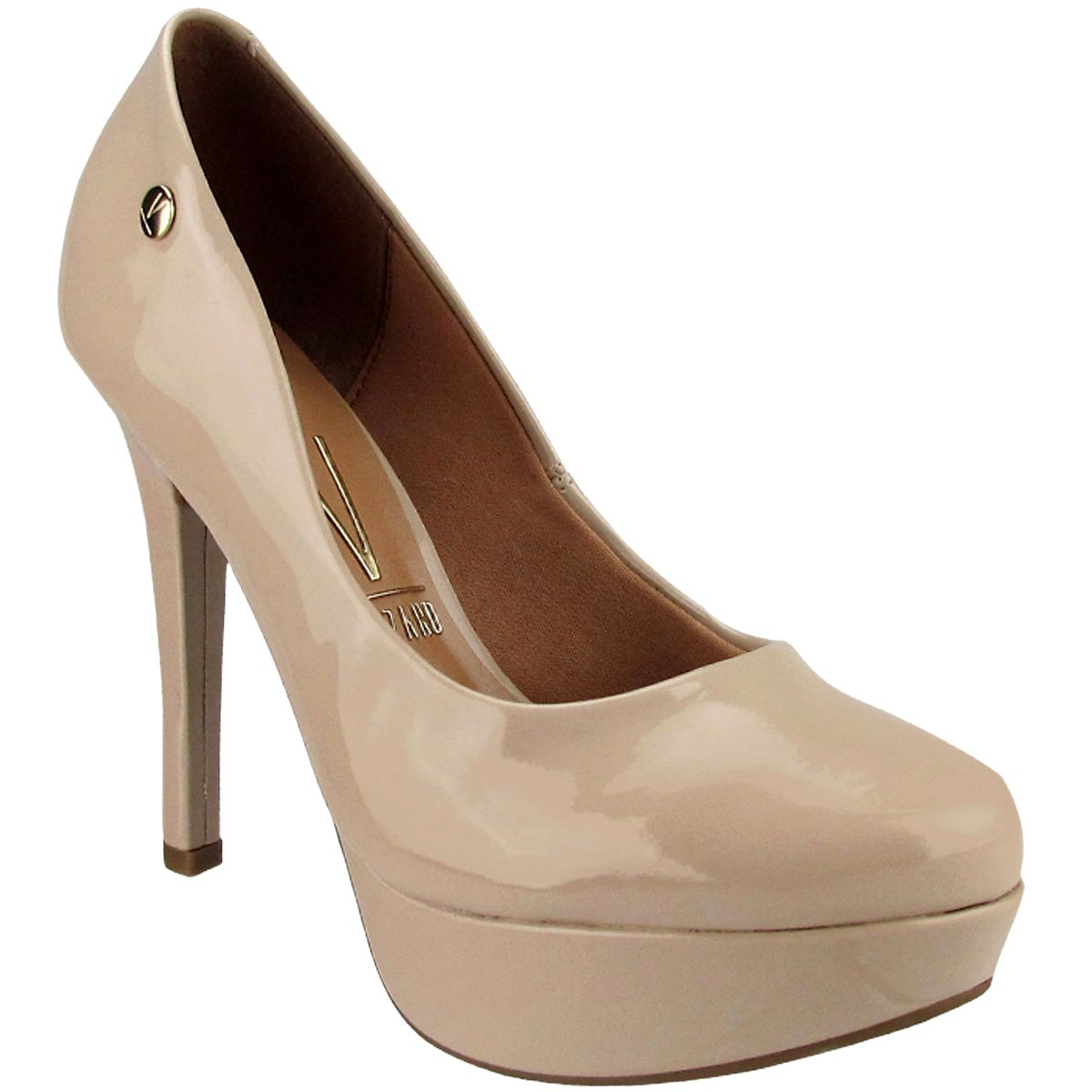 2a43a5550 Sapato Vizzano Verniz Cristal Brilho Bege Feminino - Compre Agora ...