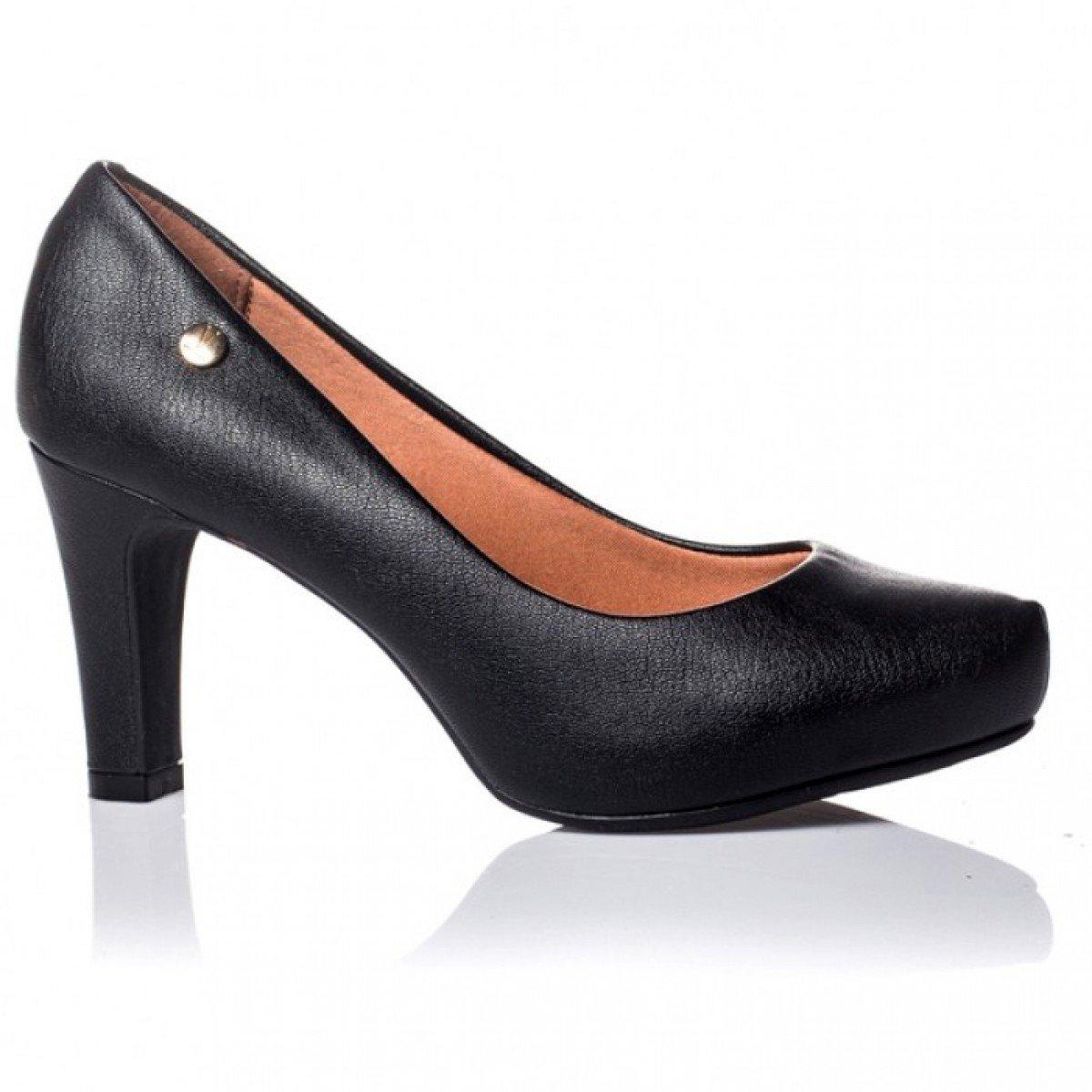 cc1524fb26 Sapato Feminino Vizzano Napa London Preto - Compre Agora