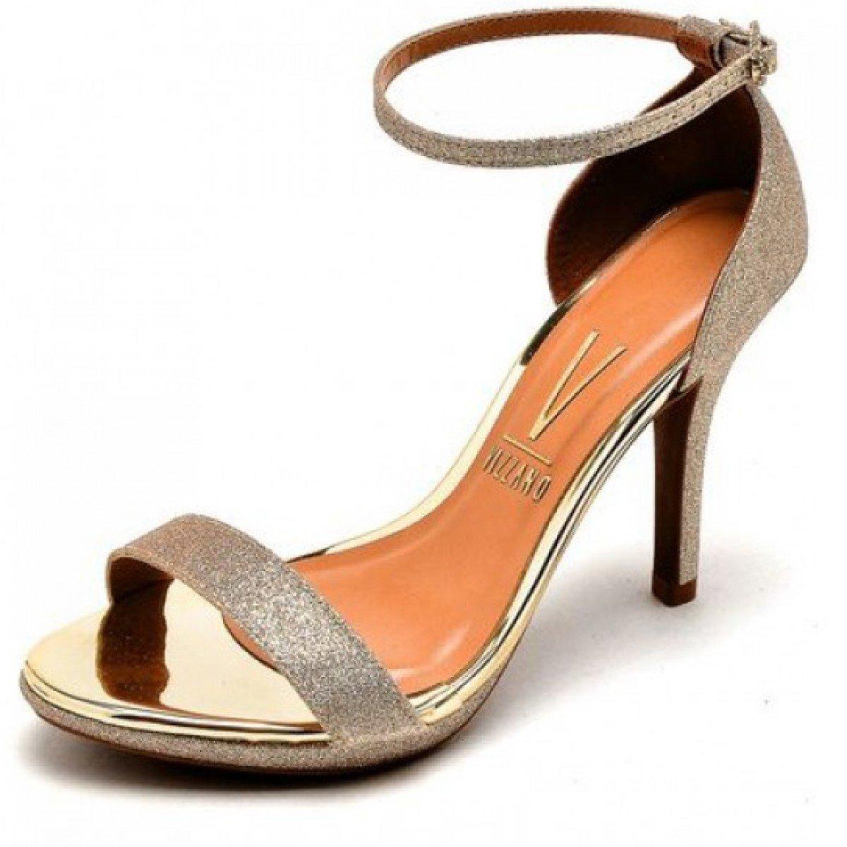 fc039206a4d Sandália Feminina Vizzano Gliter MIni Shine Dourado - Compre Agora ...