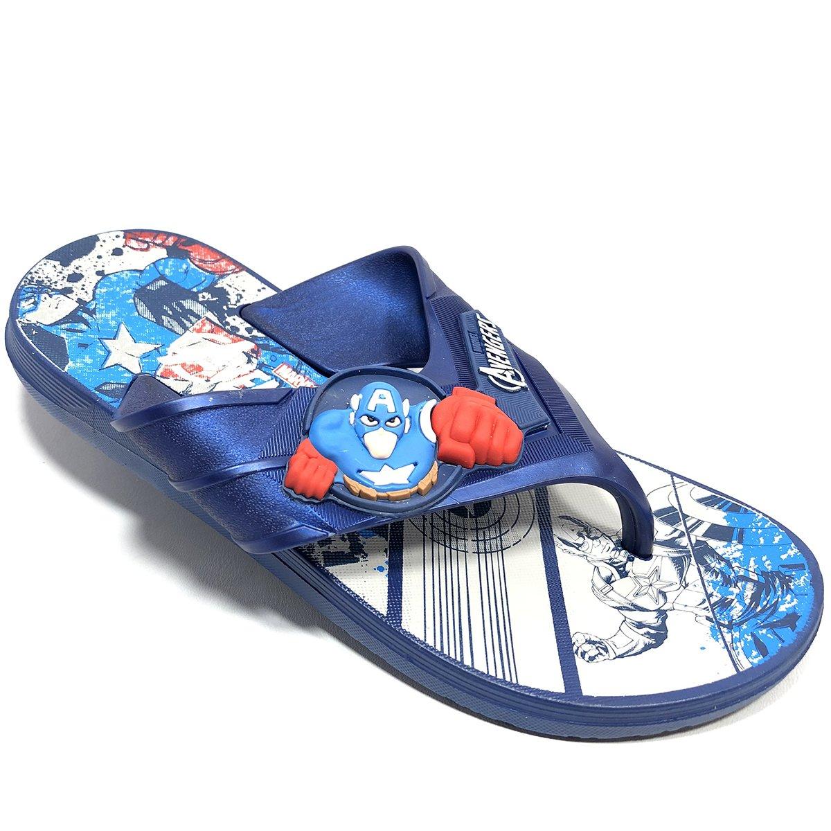 Chinelo Grendene Avengers Super Flop Infantil - Azul
