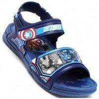 Sandália Avengers Epic Capitão América Infantil - Azul
