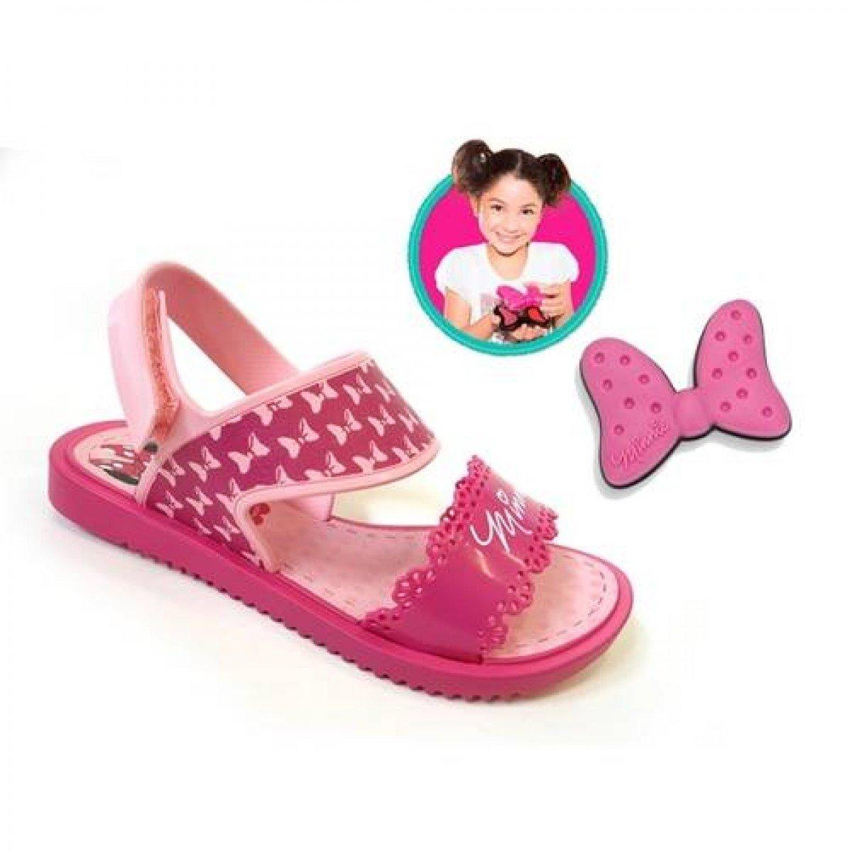 Sandália Grendene Disney Minnie Fashion Maker Infantil - Rosa