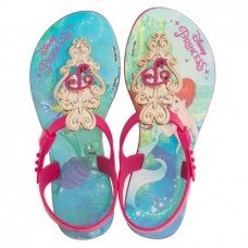 Sandália Grendene Disney Princesas Infantil - Azul