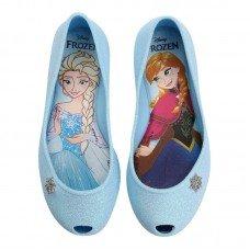 Sapatilha Grendene Frozen Snowland Infantil - Azul