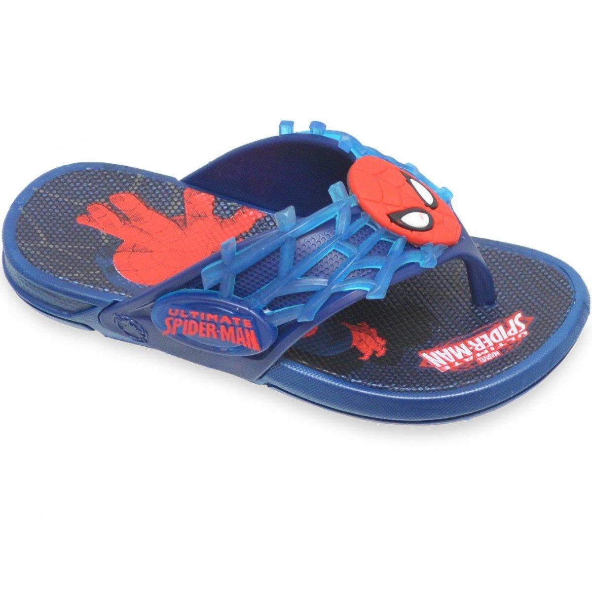 Chinelo Grendene Homem Aranha Super Infantil - Azul