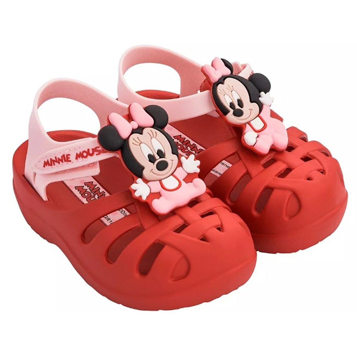 0f9d9bb73 Sandália Minnie Disney Clássicos Grendene Vermelho e Rosa - Compre ...