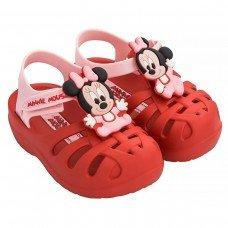 Sandália Minnie Disney Clássicos Grendene - Vermelho e Rosa