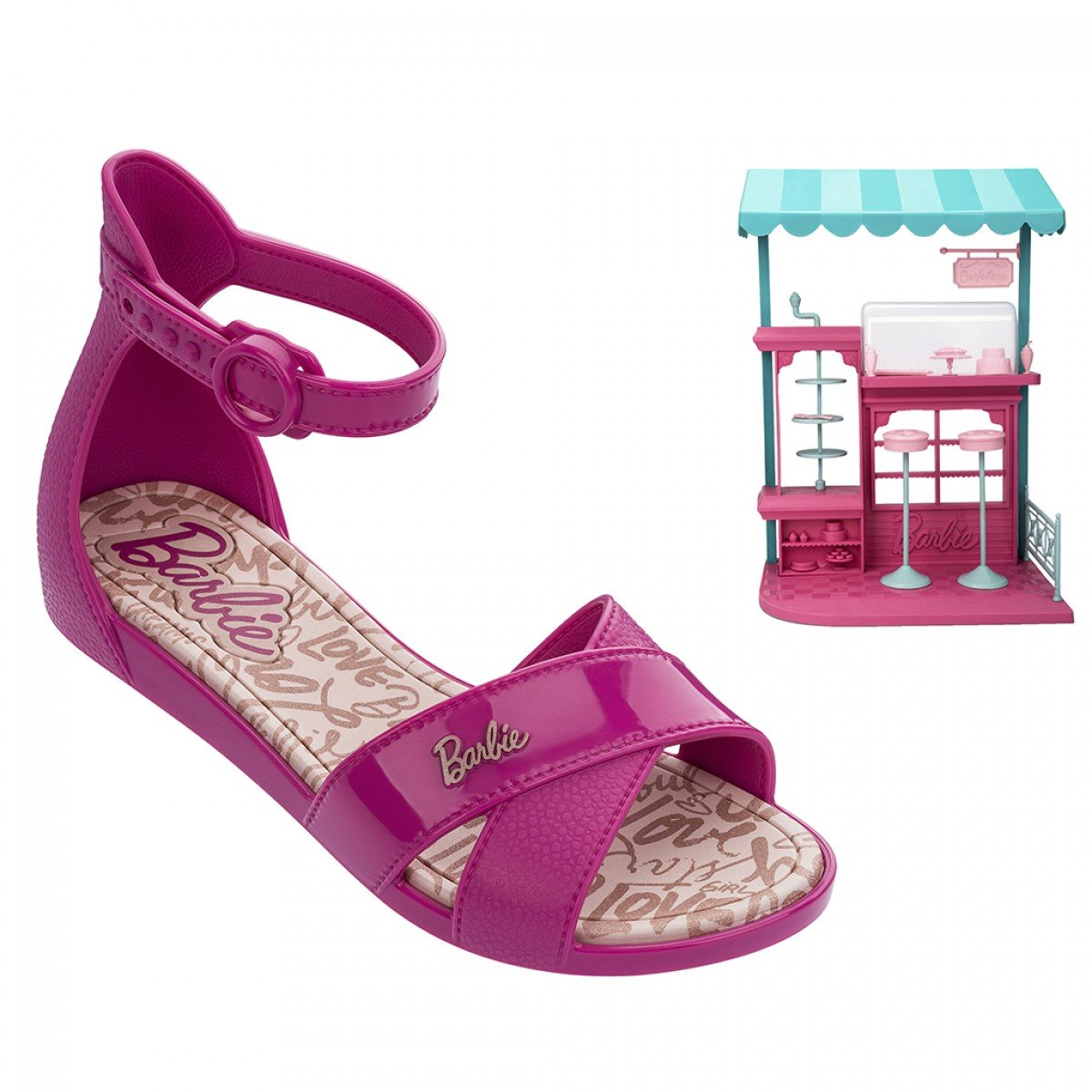 45934c406f Sandália Barabie Grendene Confeitaria Infantil Rosa Pink - Compre ...