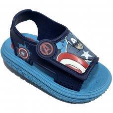 Sandália Capitão América Avengers Infantil - Azul