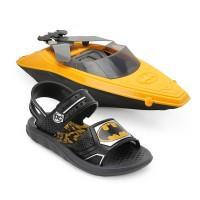 Sandália Batman Iate Batboat Infantil - Preto e Amarelo