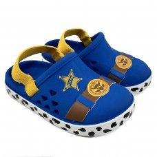 Babuche Disney Team Sheriff Baby - Azul e Amarelo